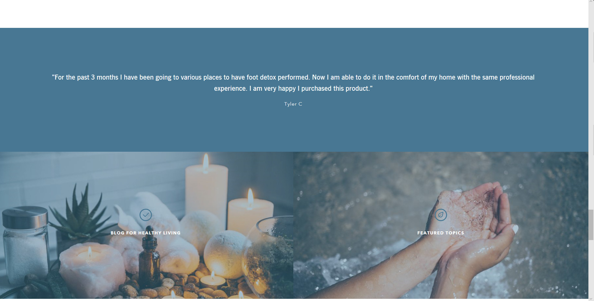website footer design example